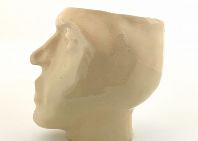 A ceramic sculpture of a head, handmade ceramic sculpture, head sculptureAAP1