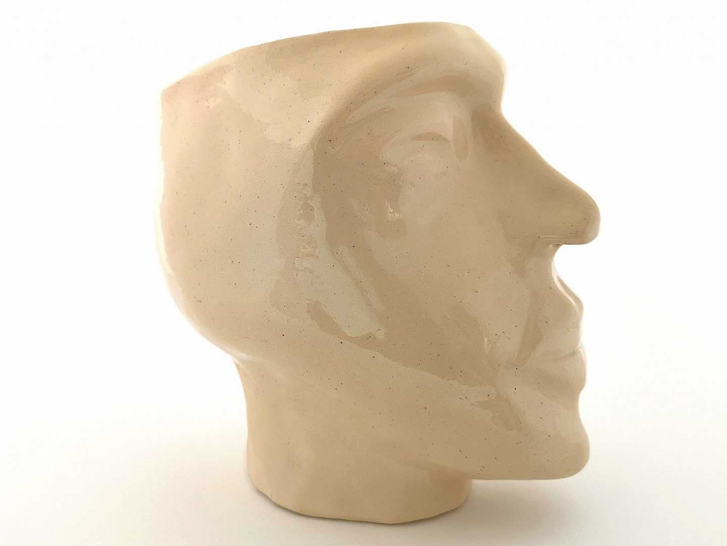 A ceramic sculpture of a head, handmade ceramic sculpture, head sculpture AAP1